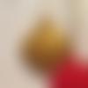 Ornements noël  lot de 3 en plâtre dorées