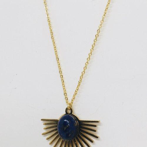 Collier soleil lapis-lazuli