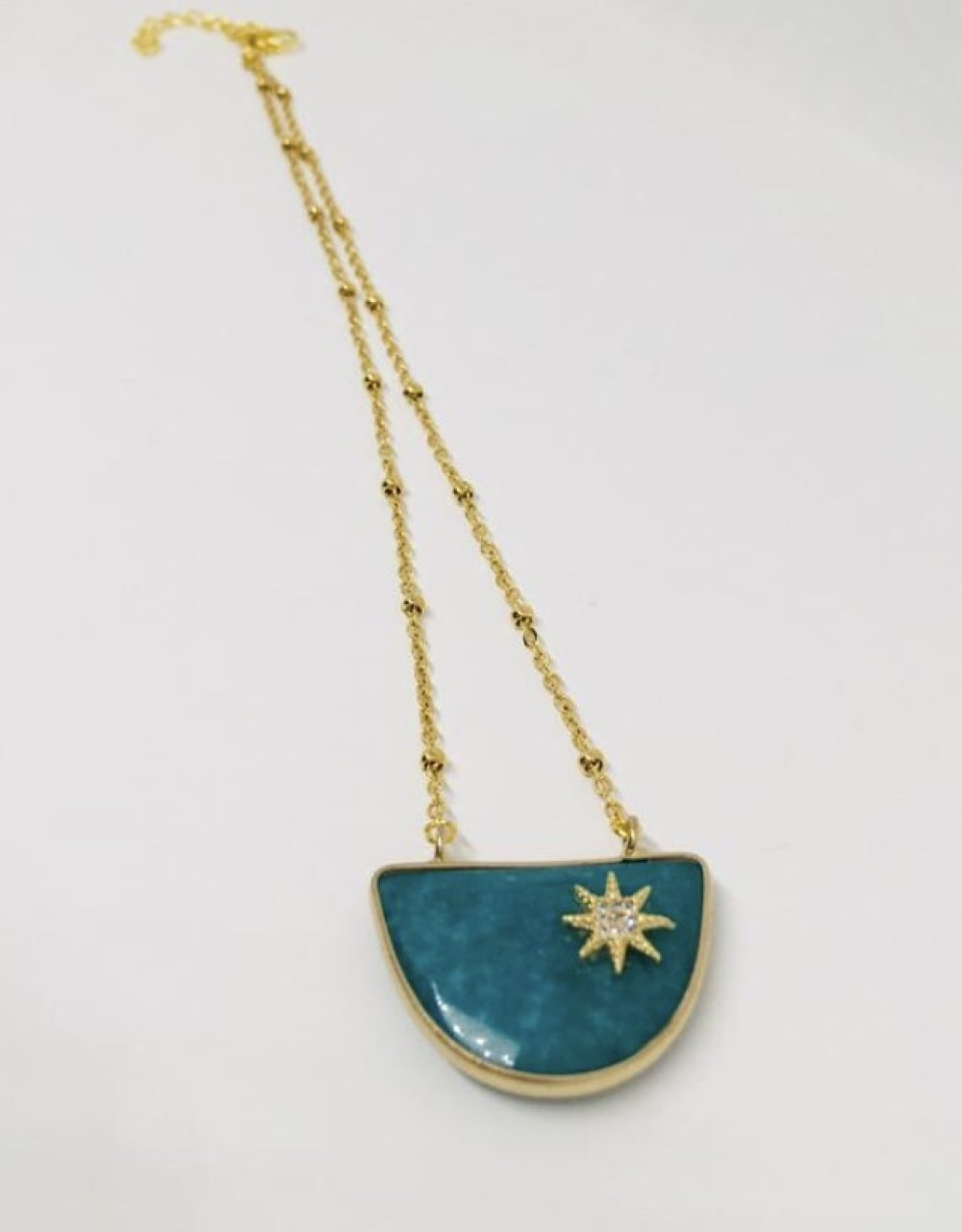 Collier Plastron Jade