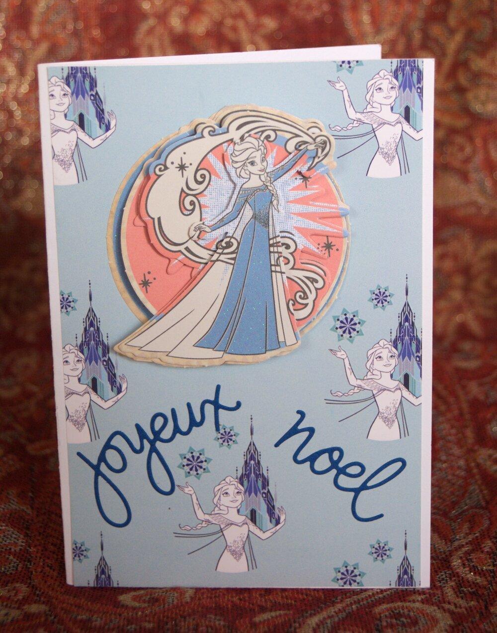 Carte de noël la reine des neiges   Un grand marché
