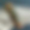 Bracelet homme 20,3 cm, tissu synthétique camel, perles passantes bronze, fermoir à crochet clip
