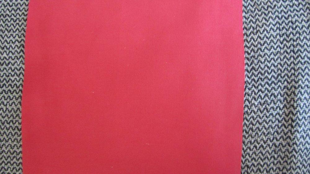 tissu en toile véritable - feuille - 30,48 cm x 30,48 cm - couleur rouge