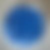 Boîte de perles à arêtes  opaque de couleur bleue - 5,5 mm - 35 pièces
