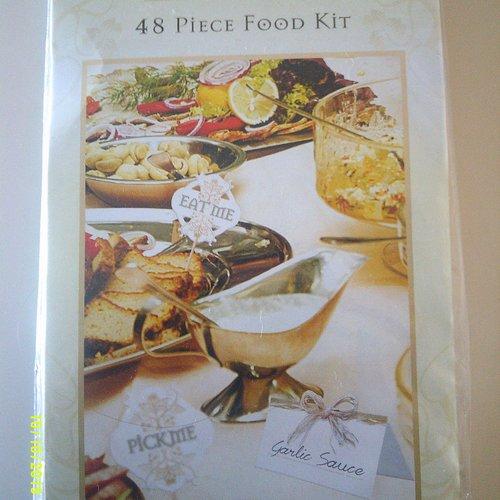 Pochette de 48 pièces food kit - décorations de table - buffet, picks party célébration