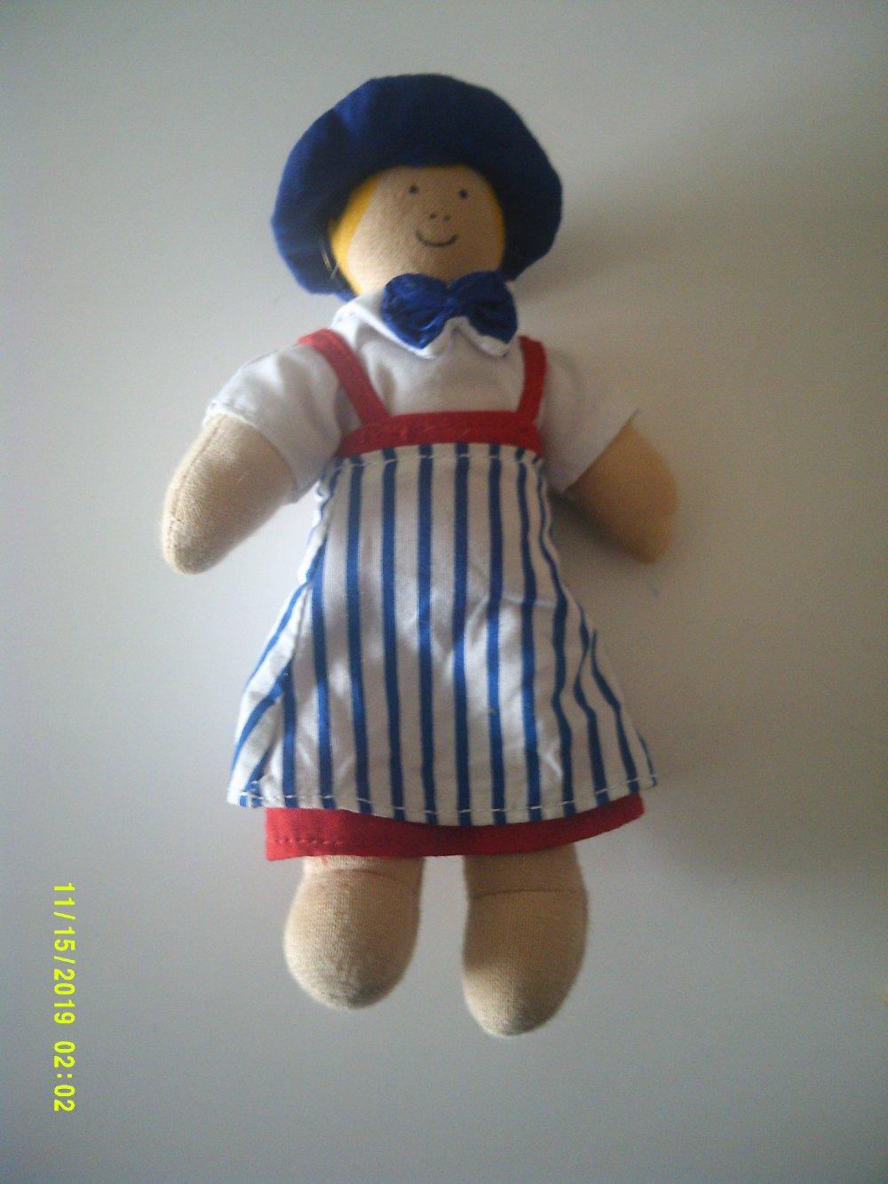 petite poupée de chiffon articulée ancienne - mignonnette - pour maison de poupée
