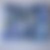 Toile - tissus  pour patchwork - fleurs - 100 % coton - 45 x 45 cm