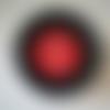 Pot de peinture pochoir pour vitres - glass tattoo - rouge couvrant  - numéro 204
