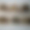 6 tampons bois et caoutchouc - thème :noël, cadeau