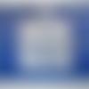 Motif autocollant/stickers strass représentant une étoile bleue pour carterie, déco, card making