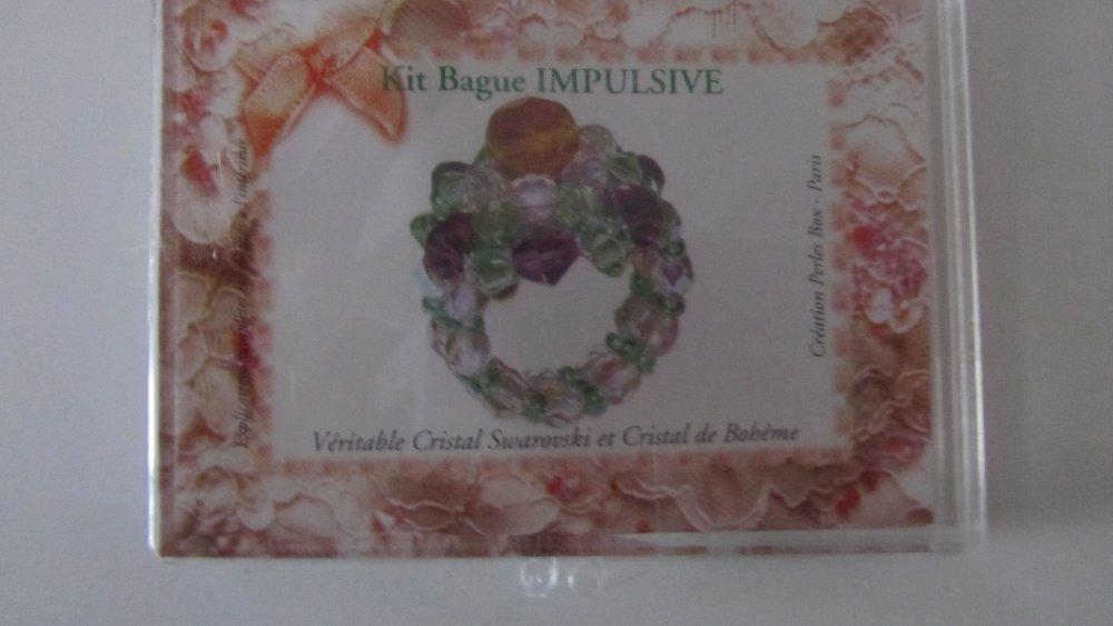 Kit bague impulsive vert - véritable cristal swarovski et cristal de bohème