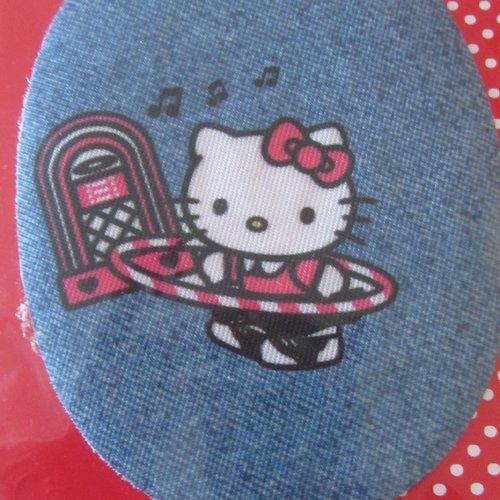 Transfert thermocollant hello kitty sur un air de musique et de hula hoop