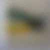 Kit point de croix comprenant la toile aïda écru,  les fils, l'aiguille - 20 cm x 20 cm