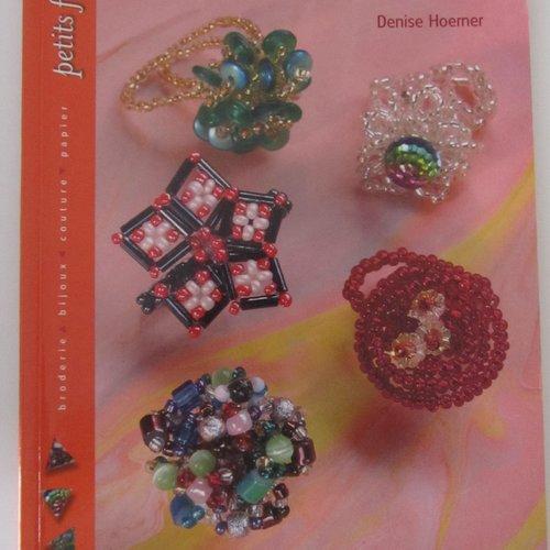 """Livre """"bagues en perles de rocaille"""" - 28 modèles de bagues"""