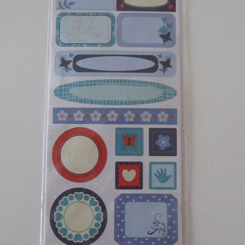 Scrapbooking embellissements 14 stickers autocollants boy