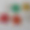 6 stickers en bois représentant des étoiles adhésives