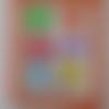 Planche de 6 stickers en silicone pour distinguer votre boisson de celle des autres