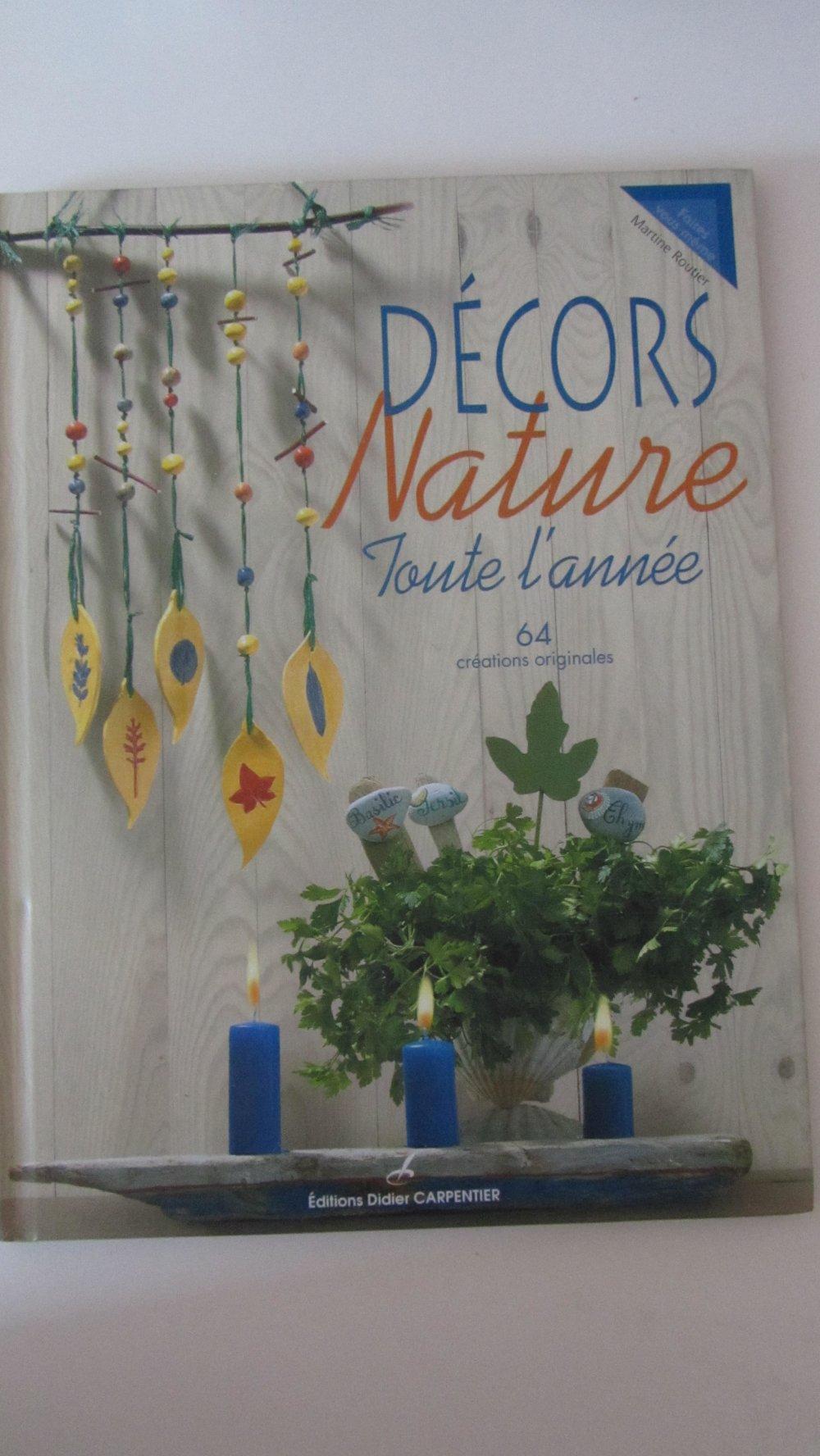 """Livre """"Décors nature toute l'année"""" - 64 créations originales"""