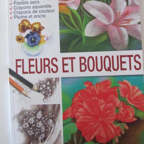 """Livre """"les dossiers du dessin - fleurs et bouquets"""" - volume 4"""
