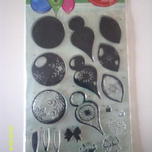 Lot de tampons christal christmas pour la fabrication de boules de noël