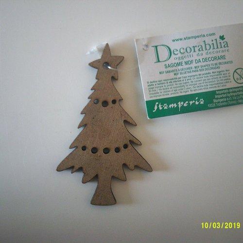 Décoration de noël - petit sapin en bois (mdf) à décorer, peindre, laisser tel quel  etc...
