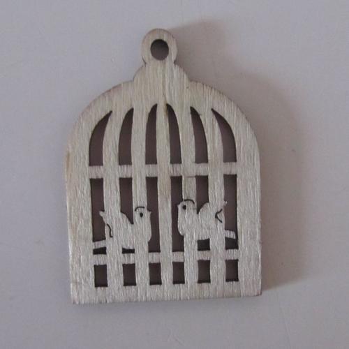 Décorations lot de 4 cages à oiseaux en bois avec 2 oiseaux intérieur