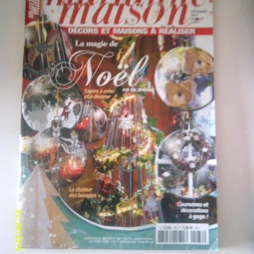 """Magazine """"marianne maison""""- spécial noël - date de décembre 2014"""