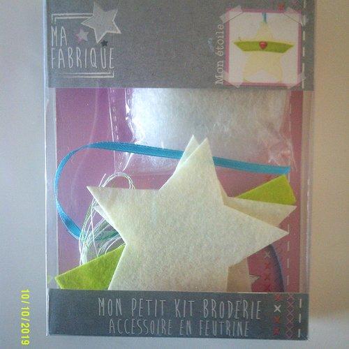 Mon petit kit broderie pour la fabrication d'une étoile en feutrine