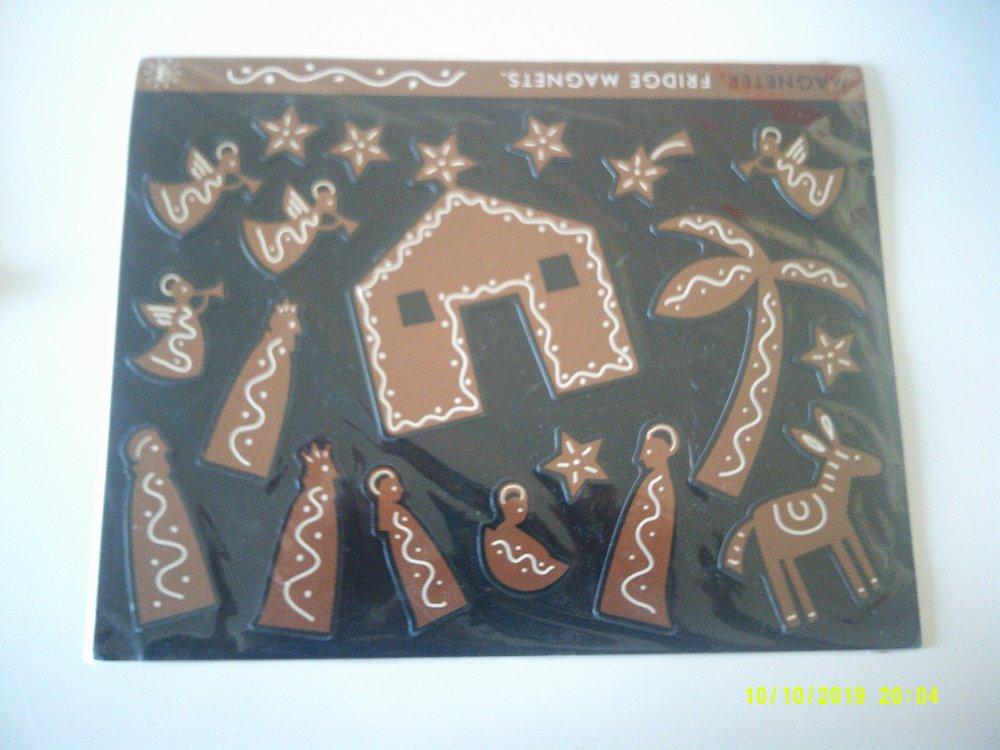 Magnets - Plaque de 19 magnets sur le thème de la crèche