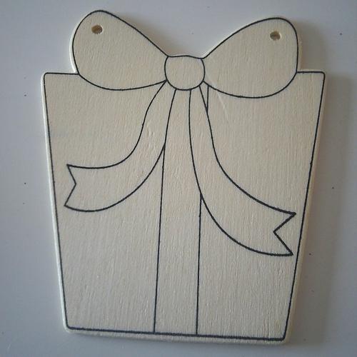 Lot de 6 cadeaux de noël en bois léger à décorer, customiser à votre idée