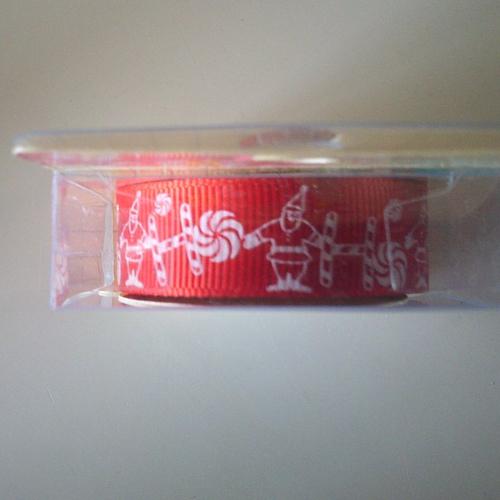 Rouleau de masking tape en tissu - style gros grain - décoration de noël