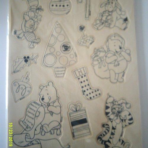 Set de suspensions en bois à customiser sur le thème de winnie l'ourson avec lien