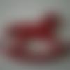 Cheval à bascule - suspension - pendentif - en bois de couleur rouge - 8 cm x 6 cm