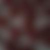 Lot de 6 stickers - coeurs en bois dans les tons rouges - 3 cm x 3 cm