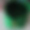 Panier, corbeille, vide-poches en feutrine et bouton bois - de couleur vert - fait main