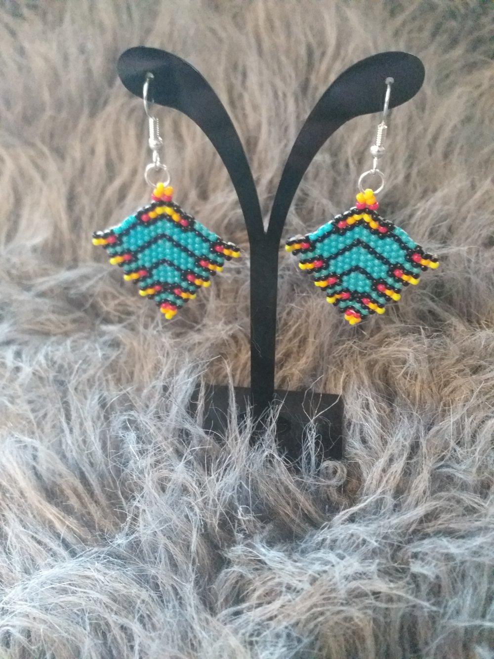 Boucles d'oreilles ethnik