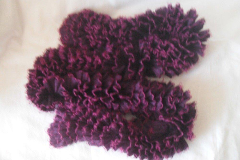 écharpe  laine et voile