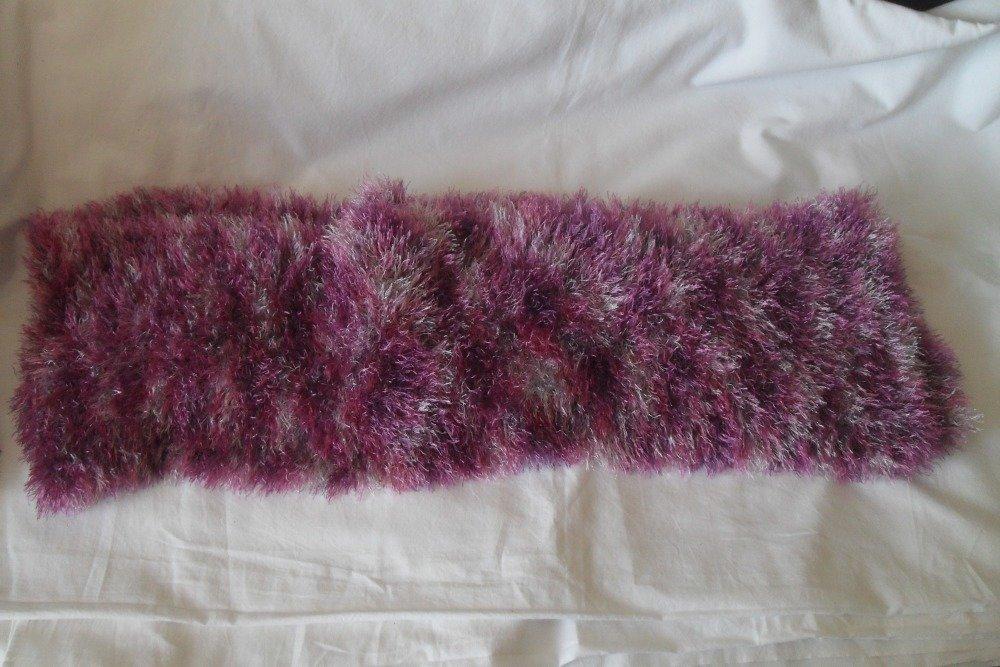 écharpe  laine  tons roses