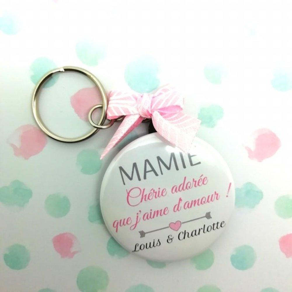 Porte clés Mamie chérie