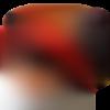 Bonnet chapeaux polaire pour fille, rouge  noir