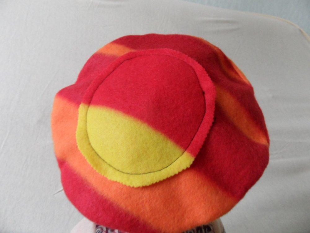 Bonnet Chapeaux Polaire Pour Fille, Rouge Orange