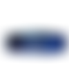 Tour de cou bleu en laine pour fille