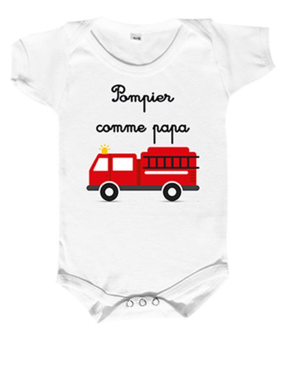 Body bébé pour nos champions les pompiers