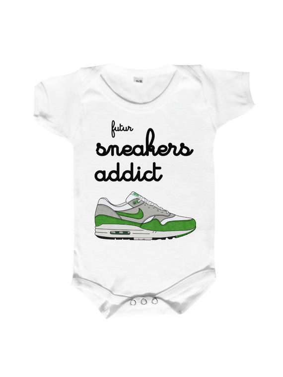 Body bébé 100% coton spécial futur ou future SNEAKERS ADDICT.