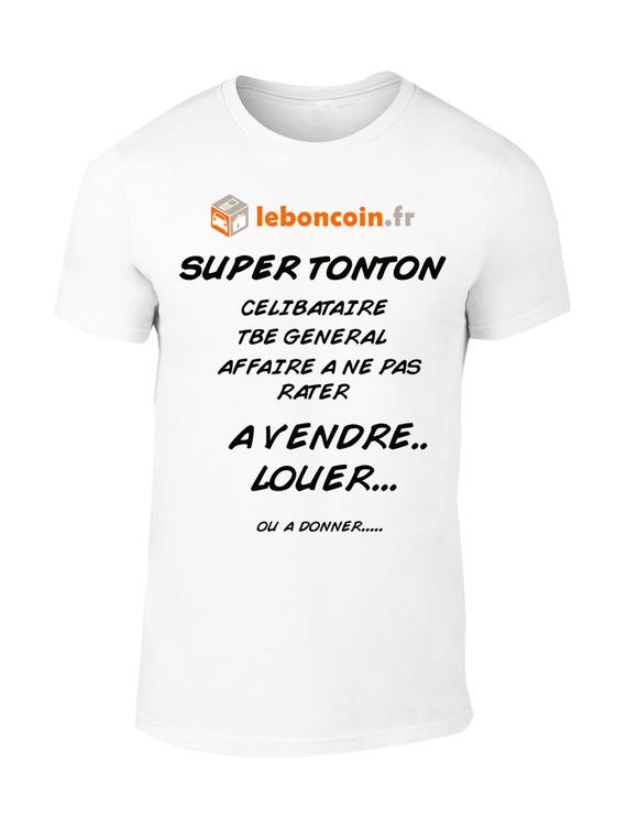"""t-shirt homme """"super tonton à vendre"""""""