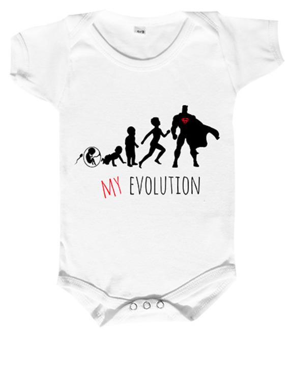 body bébé mon évolution en super héros