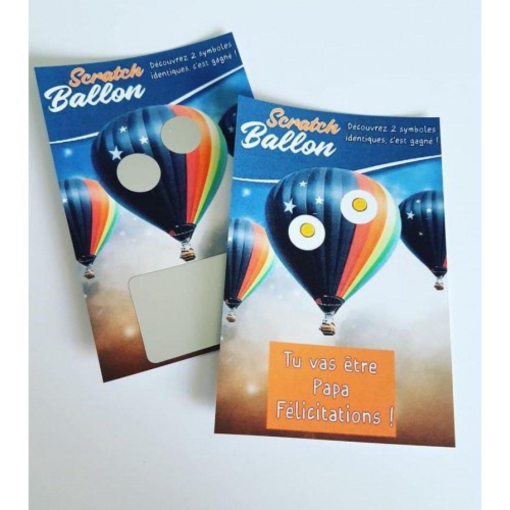 Annonce de grossesse Ticket à gratter Ballon