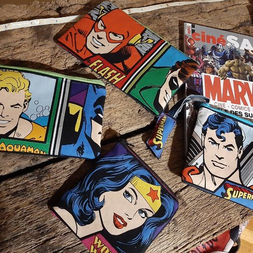Pochette super héros dc comics- flash et green lantern