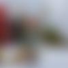 Boule de noël ailes de fée orangée, fiole ailes de fée orangée pour sapin de noël