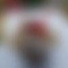 Boule de noël ailes de fée rouge, pomme de pin pour sapin de noël