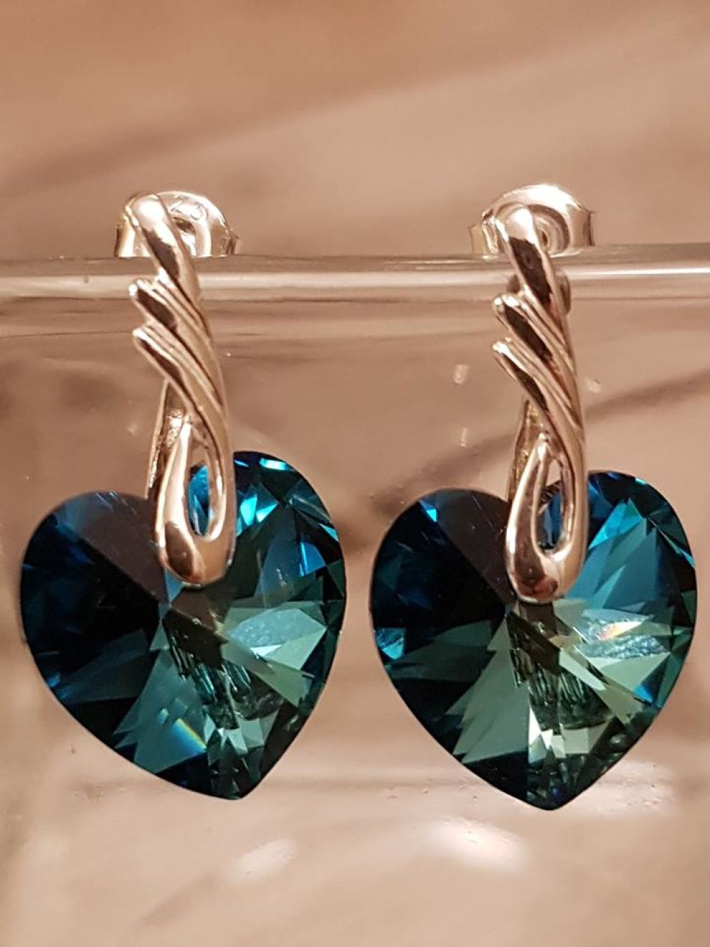 Parure Swarovski bleue et Argent Sterling 925/1000